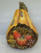 Fall Harvest Ceramic Gord w/ Corn, Pumpkins and more  Halloween Thanksgiving