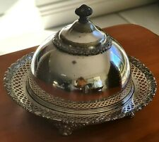 "Antique Covered Butter Dish - Estate C1852 to 1898 ""Meriden Brittania Co."""
