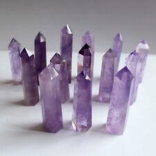 10Pcs 40-50mm Natural Purple Amethyst Quartz Crystal Point Obelisk Wand Healing
