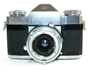 Zeiss Ikon Contaflex 35mm SLR Syncro-Compur Parts or Repair Untested