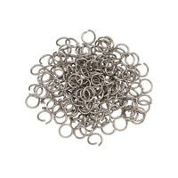 1000pcs Standard 304 Stainless Steel Open Jump Rings Unsoldered Loop Pick 4~10mm