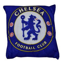 CHELSEA FC SQUARE CREST CUSHION PILLOW BEDROOM SITTING SOFA CHAIR NEW GIFT XMAS