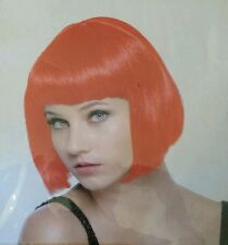 Funky Short Bobs Red Wig by Alterego Halloween Accessory