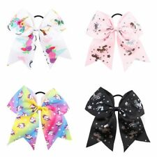 2018 Fashion Lovely Unicorn Horn Sequin Rubber Band Ponytail Holder Accessories