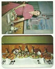 Louis Pappas Restaurants, Florida, USA postcards x 2, 1950's