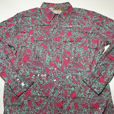 Womens Wrangler Button Up Western Top Cowgirl Paisley XL