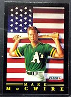 Mark McGwire MLB Sports Trading Card Fleer 1991  #4 of 12 Oakland A's