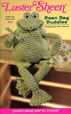 Bean Bag Buddies, Frog Ladybug Fish Pig Elephant crochet pattern booklet New