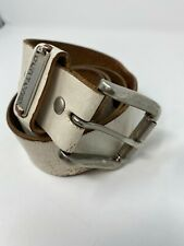 Burton Snowboards Belt White Size M 45 inches Leather