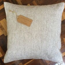 "New 16""x16"" cushion cover made in Marks & Spence beige silver woven style fabric"