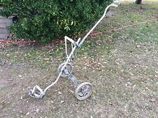 *VINTAGE ALUMINUM BAG BOY AUTOMATIC GOLF BAG PUSH PULL CART! WORKS GREAT! LOOK!!
