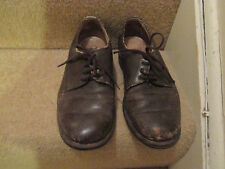 1950s ?? boy's brown evacuee style lace up shoes