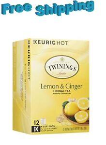 Twinings Lemon & Ginger Herbal Tea Keurig k-cups
