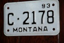 1993 MONTANA  License Plate  ** MOTORCYCLE **