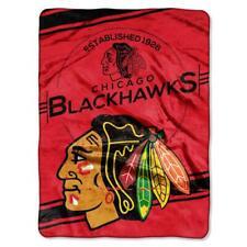 "Chicago Blackhawks Plush 60"" by 80"" Twin Size Raschel Blanket - NHL"