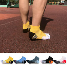 5 Pairs Men's Cotton Socks Ankle Crew Low Cut Multi-Color Sports Crew Socks