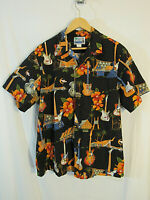 MINT RJC Men's Hawaiian Short Sleeve Button Shirt Size XL Cotton guitars USA!
