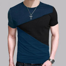Men's T Shirt Slim Fit O Neck Short Sleeve Muscle Casual Tops Assorted Colors