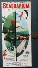 1964-65 New York World's Fair Miami Florida Seaquarium White Porpoise Brochure!