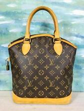 $1060 LOUIS VUITTON Lockit PM Brown LV Monogram Canvas Leather Satchel Bag SALE!