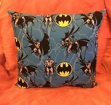 "Beautiful Handmade Blue Batman  Accent - Throw Pillow. 14"" x 14"""