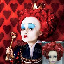 """Neu Cosplay wig """"Alice in Wonderland"""" Queen of Hearts/The Red Queen Peruecke Rot"""