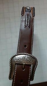 NOCONA Belt Co. Brown Leather Belt, SZ 34