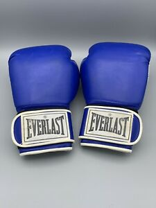 Everlast Boxing Gloves Blue and White 12oz In Great Condition