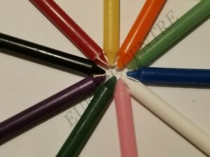 PACK OF 10 COLOURFULL NON DRIP DINNER CANDLES FOR LESS PRICE - MANY COLOURS