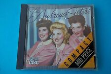 """THE ANDREWS SISTERS """"RARITIES"""" CD MCA RECORDS 1984 NUOVO"""