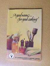 RECIPE BOOK ST LAWRENCE STARCH COMPANY A GOOD NAME FOR GOOD COOKING CORN SYRUP