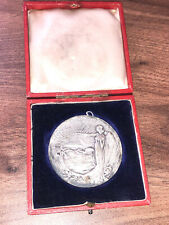 CASED ANTIQUE 1903 BOER WAR CHAMBERLAIN VISIT TO SOUTH AFRICA MEDAL