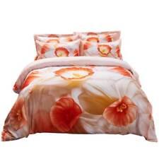 6 PC Queen Duvet Cover Set 100% Cotton Fitted Sheet Bedding Dolce Mela DM702Q