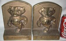 American Usa Football Wi Badger Cast Iron Statue Sculpture Bookends Or Doorstop