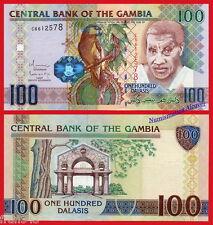 GAMBIA 100 Dalasis 2010 Pick 29b SC  /   UNC