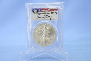 USA 1 Dollar 2014 S  American Eagle Edmund C. Moy PCGS  MS 70