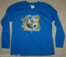 Boys Long Sleeve tee shirt XL Blue All Sports I GOT GAME IN EVERY GAME