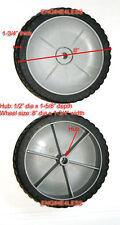 "TWO 8"" x 2"" for some Craftsman WALK BEHIND PUSH WALKBEHIND LAWN MOWER WHEELS"