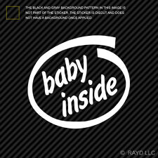 (2x) Baby Inside Sticker Die Cut Self Adhesive Vinyl Decal car safety infant