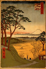 Old Man's Teahouse 15x22 Japanese Print Hiroshige Asian Art Ltd. Edition Japan