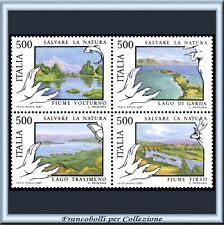 1987 Italia Repubblica Blocco Salvaguardia Natura **
