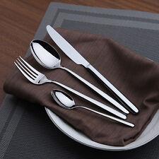 48 pcs 18/10 Grade Stainless Steel Restaurant Style Cutlery Set Dishwasher Safe