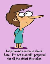 METAL FRIDGE MAGNET Leg Shaving Season Not Prepared Friend Family Humor Funny