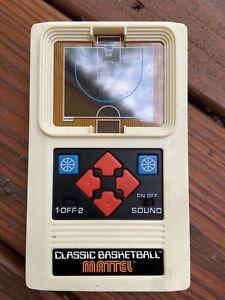 ELECTRONIC BASKETBALL Retro Mattel Classic Handheld Video Game VGUC WORKS