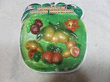 Set of 6 Magnetic Memo Holders/ Refrigerator Magnets Fruit Shape (#3)
