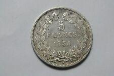 LOUIS PHILIPPE 5 FRANCS ARGENT 1834 W TTB