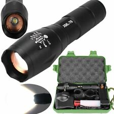 Tactical 6000LM XML T6 Zoomable LED Flashlight Rechargeable Torch Lamp Light BOX