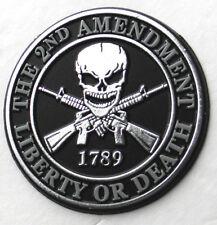Liberty or Death 2nd Amendment Flexible Fridge Car Magnet 3 inches