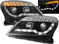 Coppia di Fari Anteriori LED DRL Look per Opel ASTRA H 2004-2010 Daylight Neri I