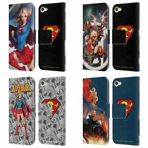 SUPERMAN DC COMICS SUPERGIRL COMIC ART LEATHER BOOK CASE FOR APPLE iPOD TOUCH